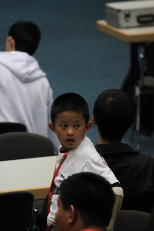 Un copil japonez...probabil foarte rapid