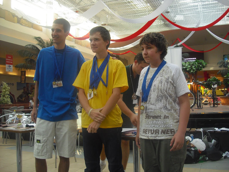 Podium Romanian Rubik Open 2010