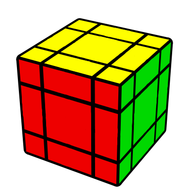 4x4x4 Rezolvat - redus la 3x3x3