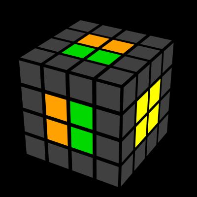 Cub 4x4x4 ultimele 2 centre 3
