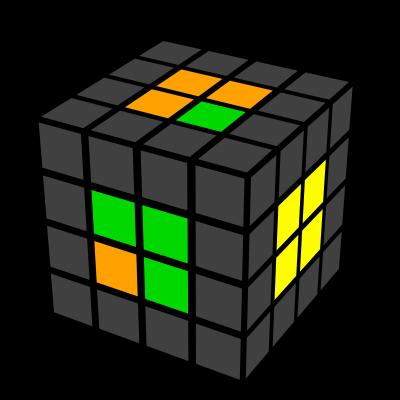 Cub 4x4x4 ultimele 2 centre 4