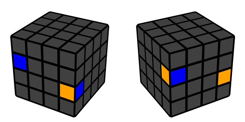 Muchii 4x4x4 - caz 1